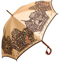 ◆エッフェル塔(長傘)ベージュモンブランヤマグチほぐし織り婦人雨傘