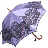 ◆エッフェル塔(長傘)ラベンダーモンブランヤマグチほぐし織り婦人雨傘