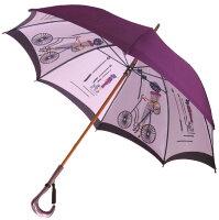 【店主おすすめ】巴里の自転車(パープル)長傘タイプモンブランヤマグチ婦人雨傘