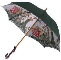 ★【両面ほぐし織】モンブラン婦人雨傘・長傘『舞姫』グリーン〜比類無き浪漫薫る傘