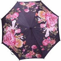 【限定】ローズプレシャスモンブランヤマグチ婦人傘エリザベート・ブラック※地色は黒で染めてはおりますが、染料の関係で真っ黒ではなくもっと淡く柔らかい発色になっております