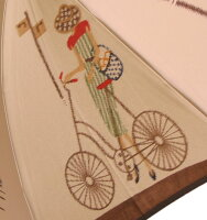 ◆巴里の自転車ベージュ・コンセール【モンブランヤマグチほぐし織り】最高級婦人長傘