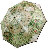 【シャンデリア(グリーン)】モンブランヤマグチほぐし織り(二段折畳傘)