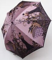 【舞姫(スイートロキシー・ローズ)】モンブランヤマグチほぐし織り(二段折畳傘)