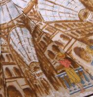 【イタリアの駅】モンブランヤマグチほぐし織り(二段折畳傘)
