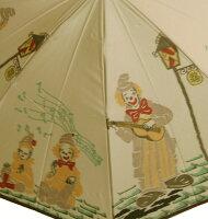 【シャンソンストリート(ムーンライトベージュ)】モンブランヤマグチほぐし織り(二段折畳傘)