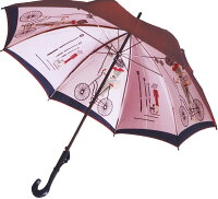 【店主おすすめ】巴里の自転車(エンジ)長傘タイプモンブランヤマグチ婦人雨傘