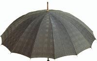 ★ギフトおすすめ品★お名前彫りの場合は4月上旬仕上Gentle16(グレー)楓(かえで)ハンドル皇室御用達前原光榮商店紳士雨傘