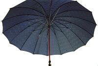 ★ギフトおすすめ品★お名前彫りの場合は4月上旬仕上Gentle16(ネイビー)楓(かえで)ハンドル皇室御用達前原光榮商店紳士雨傘