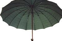 ★ギフトおすすめ品★お名前彫りの場合は4月上旬仕上Gentle16(グリーン)楓(かえで)ハンドル皇室御用達前原光榮商店紳士雨傘