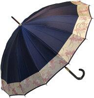 【受注作成】4月中旬仕上※お名前彫りの場合は4月下旬仕上ストーリィ16(紺錦〜こんにしき)とも生地外袋つき「皇室御用達」前原光榮商店婦人雨傘
