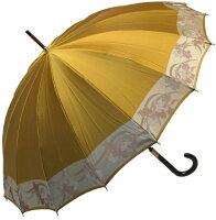 【受注作成】4月中旬仕上※お名前彫りの場合は4月下旬仕上ストーリィ16(黄金〜こがね)とも生地外袋つき「皇室御用達」前原光榮商店婦人雨傘