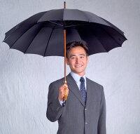 ★ギフトおすすめ品★お名前彫りの場合は4月上旬仕上Bamboo16(ブラック)「皇室御用達」前原光榮商店紳士雨傘