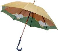 【両面ほぐし織】猫ねこモンブランヤマグチ婦人傘ゴールドベージュ〜その愛らしさに虜になる雨の日の傑作