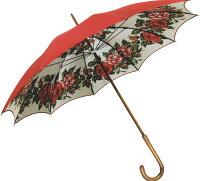 【受注作成品納期4-6週間】米田シルクガーデン*長傘エンジ赤(写真より濃い色で仕上がります)(dxシリーズ)