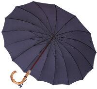 ★ギフトおすすめ品★お名前彫りの場合は4月上旬仕上Bamboo16(濃紺ネイビー)「皇室御用達」前原光榮商店紳士雨傘