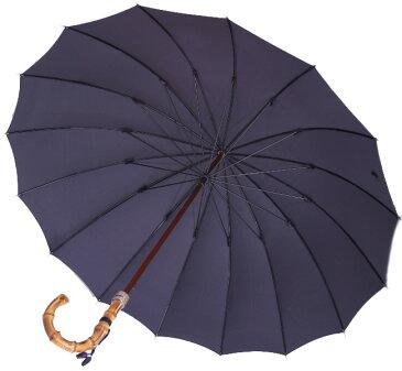 【名入OK】前原光栄Bamboo16 (濃紺ネイビー)「皇室御用達」前原光榮商店 紳士雨傘持つほどに愛着がわく紳士傘名前入れオプション\3000(税別)【1】ネームプレート打込(2/8仕上予定)【2】お名前ハンドル手彫り(2/19仕上予定)