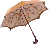 【店主おすすめ】巴里の自転車(ゴールドベージュ)長傘タイプモンブランヤマグチ婦人雨傘