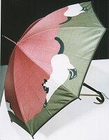 ◆猫(ピンク/カーキ)モンブランヤマグチ婦人雨傘・長傘