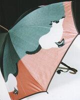 ◆猫(グリーン/ピンク)モンブランヤマグチ婦人雨傘・長傘