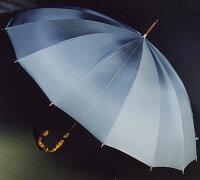 ★ギフトおすすめ品★お名前彫りの場合は4月上旬仕上Bamboo16(ブルーグレー)「皇室御用達」前原光榮商店紳士雨傘