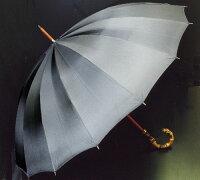 ★ギフトおすすめ品★お名前彫りの場合は4月上旬仕上Bamboo16(チャコールグレー)「皇室御用達」前原光榮商店紳士雨傘)