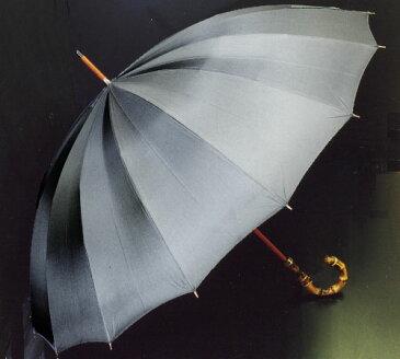 【名入れOK】前原光栄Bamboo16 (チャコールグレー)「皇室御用達」前原光榮商店 紳士雨傘持つほどに愛着がわく紳士傘名前入れオプション\3000(税別)【1】ネームプレート打込(2/8仕上予定)【2】お名前ハンドル手彫り(2/19仕上予定)