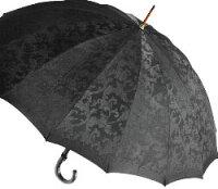■受注作成【所要約3カ月】Trad16(ブラック)たま留めつき楓ハンドル「皇室御用達」前原光榮商店紳士雨傘