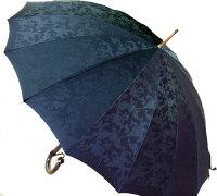 ■受注作成【所要約3カ月】Trad16(ネイビー)たま留めつき楓ハンドル「皇室御用達」前原光榮商店紳士雨傘