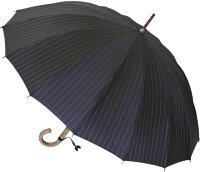 ★ギフトおすすめ品★お名前彫りの場合は4月上旬仕上■EuroPrince16(パーマネント・ブラック)「皇室御用達」前原光榮商店紳士雨傘
