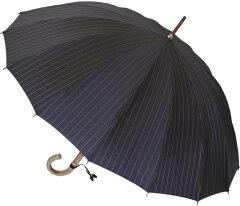*おすすめ色*■Euro Prince16 (パーマネント・ブラック )「皇室御用達」前原光榮商店 紳士雨傘...