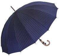 ★ギフトおすすめ品★お名前彫りの場合は4月上旬仕上■EuroPrince16(ダークナイト・ネイビー)「皇室御用達」前原光榮商店紳士雨傘