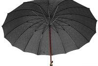 ★ギフトおすすめ品★お名前彫りの場合は4月上旬仕上Gentle16(ブラック)楓(かえで)ハンドル皇室御用達前原光榮商店紳士雨傘