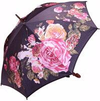 【ほぐし織り】ローズプレシャスモンブランヤマグチ婦人傘エリザベート・ブラック