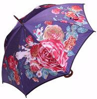 【ほぐし織り】ローズプレシャスモンブランヤマグチ婦人傘クリスティアン・ネイビー
