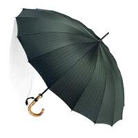 お名前彫りの場合は4月上旬仕上■EuroPrince16(バーリィウッド・グリーン)「皇室御用達」前原光榮商店紳士雨傘