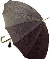 【受注作成】4月中旬仕上※お名前彫りの場合は4月下旬仕上ロイヤル16(ブラック)「皇室御用達」前原光榮商店・婦人雨傘