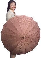 【受注作成】4月中旬仕上※お名前彫りの場合は4月下旬仕上Royal16(ライトブラウン)【とも生地外袋つき】「皇室御用達」前原光榮商店・婦人雨傘
