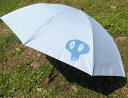 史上最強の男性用日傘McRossa(マクロッサ)Ver.7【色】Sage Blue(セージ・ブルー)遮光100%UVカット99%以上 ヒートブロック遮熱仕様いとうせいこうさんのDocrotがプリントされた二段折畳傘。