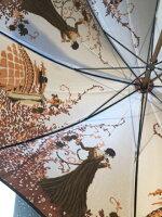 モンブランヤマグチ【両面ほぐし織】婦人雨傘・長傘『舞姫』ブラック〜比類無き浪漫薫る傘