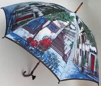 ◆街路樹(長傘)ラベンダーモンブランヤマグチほぐし織り婦人雨傘