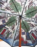 ◆街路樹(長傘)モンブランヤマグチほぐし織り婦人雨傘
