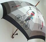 ◆巴里の自転車 レイユール 【ほぐし織り 】最高級婦人長傘モンブランヤマグチの傘