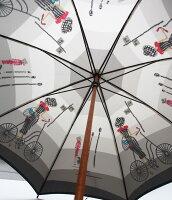 ◆巴里の自転車レイユール【ほぐし織り】最高級婦人長傘モンブランヤマグチの傘