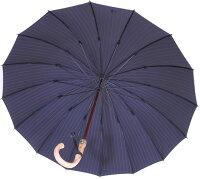 【店主おすすめ色】■EuroPrince16(ダークナイト・ネイビー)「皇室御用達」前原光榮商店紳士雨傘名前彫りなしは即納彫り有りは3/27(水)仕上予定