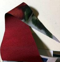 【受注作成品納期4-6週間】米田シルクガーデン*長傘エンジ赤(現在は真っ赤ではなく、生地拡大写真のように落ち着いたエンジ赤のお色で仕上がります)(dxシリーズ)