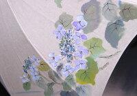 ◆母の日おすすめ品◆京都西陣手描き日傘(がく紫陽花・ブルー)
