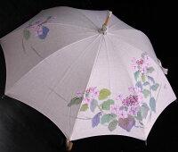 ◆母の日おすすめ品◆京都西陣手描き日傘(がく紫陽花ピンク)