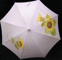 ◆母の日おすすめ品◆京都西陣手描き日傘(ひまわり)