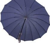 ◆Komiya7016◆LL70cm16本骨紳士傘(色:アイリッシュネイビー)ファインデニール繊維ミラトーレ仕様とも生地外袋つき ニュースタイルを創造するアイリッシュネイビー】※現在の色はお写真よりも濃い色合いで黒に近い濃紺になっております。